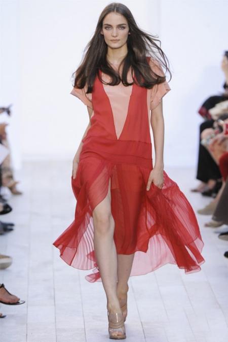 Ефирна разкроена рокля Сhloe пролет 2012
