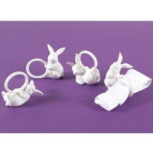 Халки за салфетки във форма на Великденски заек