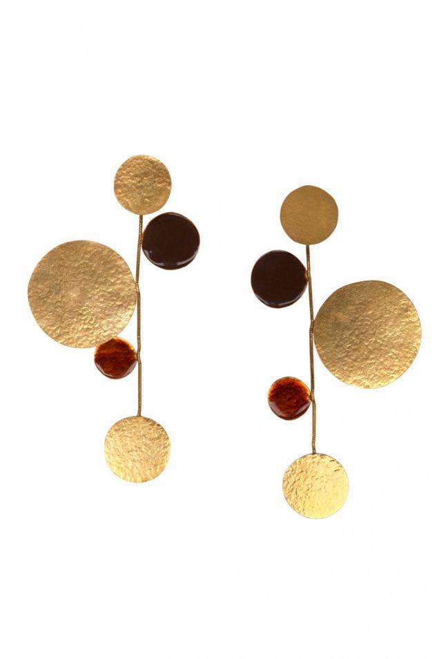 Висящ наниз от златни монети Herve Van der Straeten есен-зима 2011