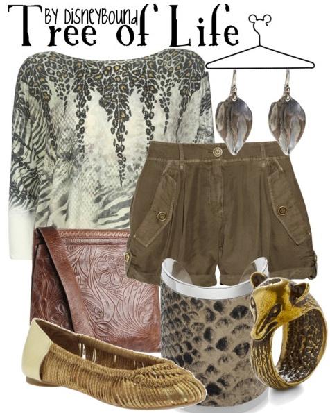 Сет с блуза и къси панталони и аксесоари вдъхновени от природата