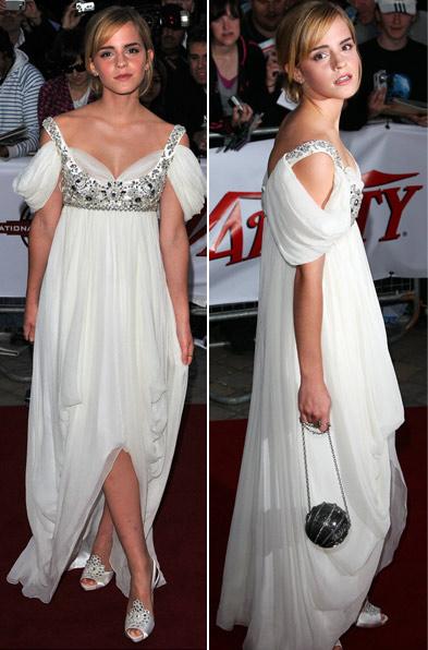 Ема Уотсън в дълга бяла рокля Chanel