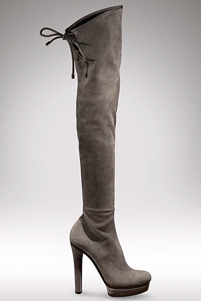 Много високи ботуши на ток сиви Gucci Есен-Зима 2011