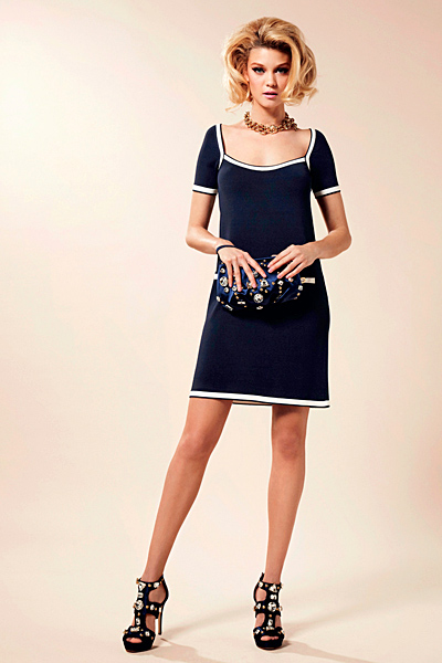 Тъмно синя рокля Предпролетна колекция Blumarine за 2012