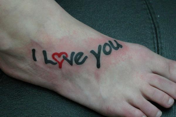 Татуировка I love you със сърце