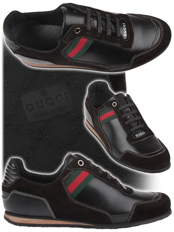 Кожени маратонки в черно Gucci пролет-лято 2012