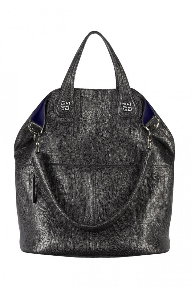 Голяма чанта черна кожа с 2 вида дръжки Givenchy Зима 2011/2012