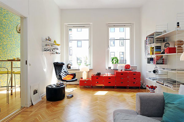 Интериор за малък апартамент със семпъл дизайн