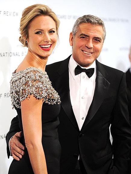 Джордж Клуни със Стейси Киблър