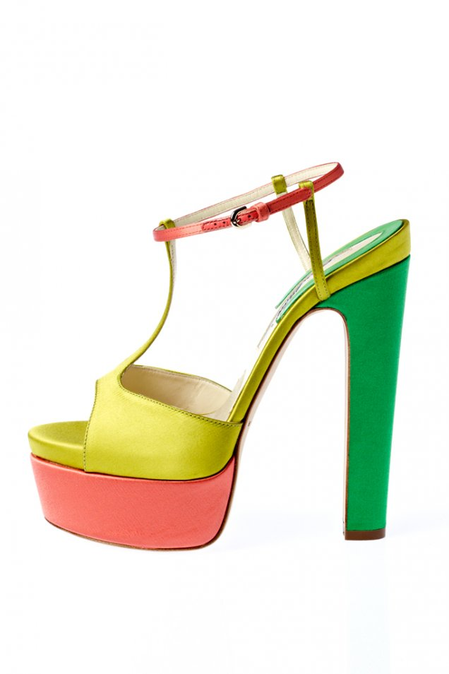 цветни сандали на платформа от Brian Atwood за пролет-лято 2012