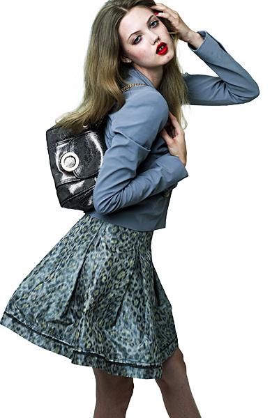 Синя леопардова рокля Ваканционна колекция Z Spoke на Zac Posen 2012