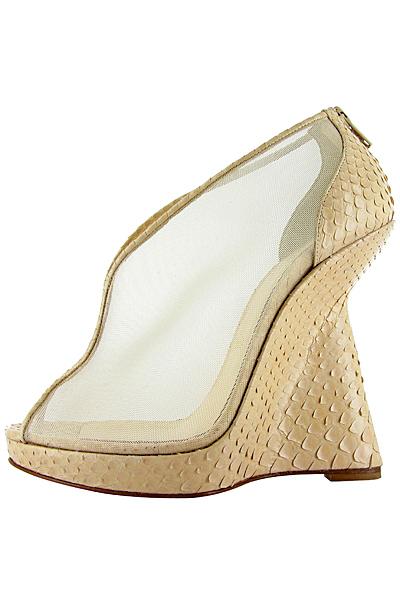 Високи обувки с авангардна платформа Christian Louboutin Пролет-Лято 2012