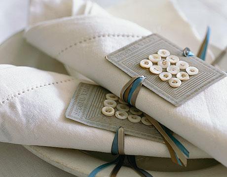 Декорация за салфетки с копчета