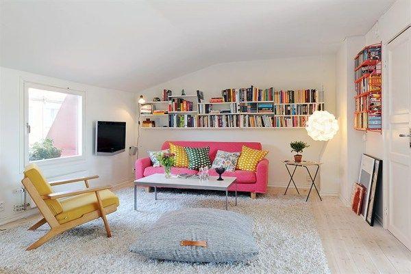Интериор за малък апартамент с нисък таван