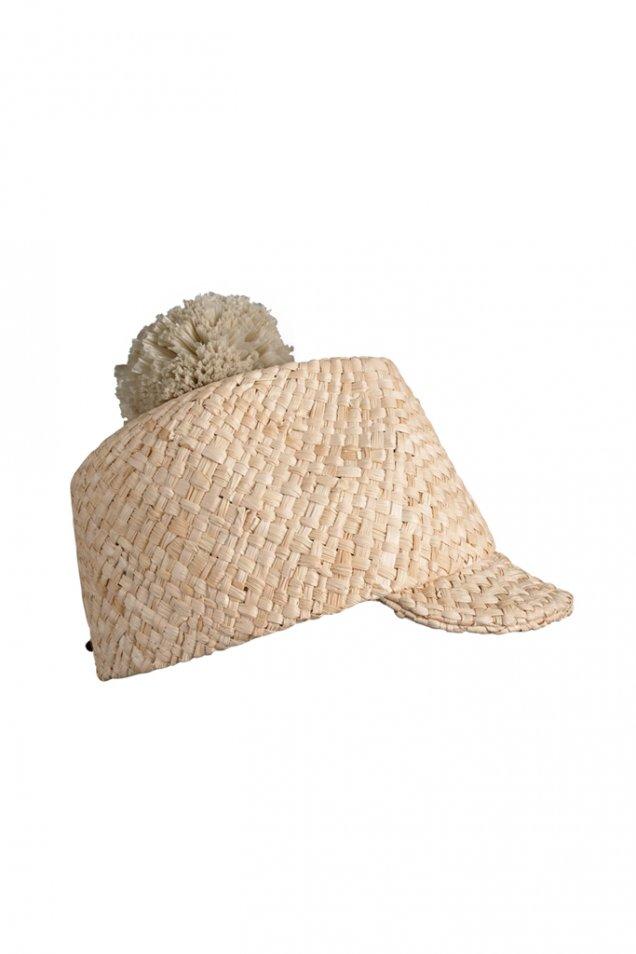 Сладка сламена шапка с малка козирка и пискюл Burberry Prorsum пролет лято 2012