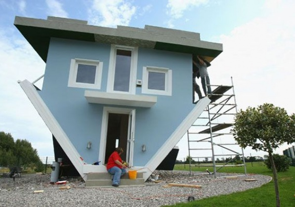 Обърната къща в Германия