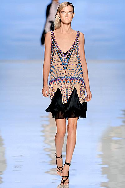 Шарена къса рокля с дантела отдолу Etro Пролет-Лято 2012