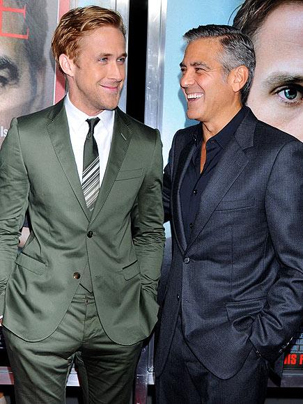 Джордж Клуни с Райън Гослинг