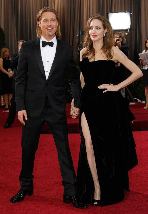 Анджелина Джоли с Брад Пит Оскари 2012