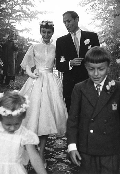 Одри Хепбърн през 1954 с Мел Ферър