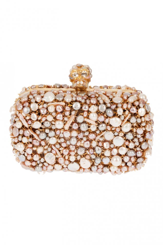 Малка чанта с перли и мъниста Alexander McQueen Пролет 2012