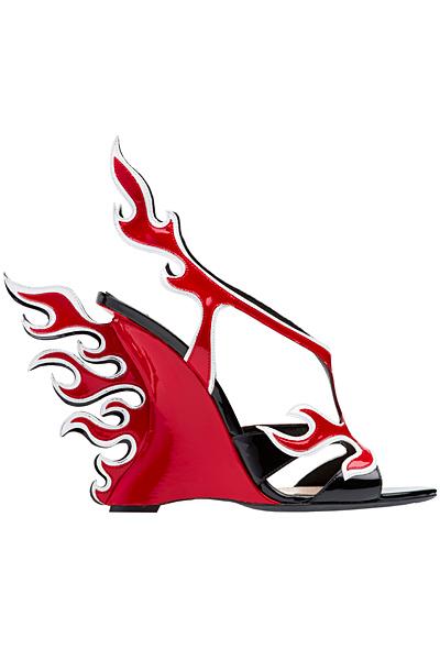 Лачени сандали с цяла платформа с пламъци Prada Пролет-Лято 2012