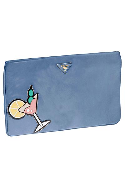 небесно синя чанта плик с коктейл Prada Пролет-Лято 2012