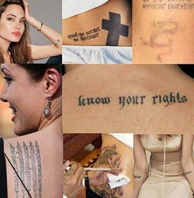 Татуировките на Анджелина Джоли