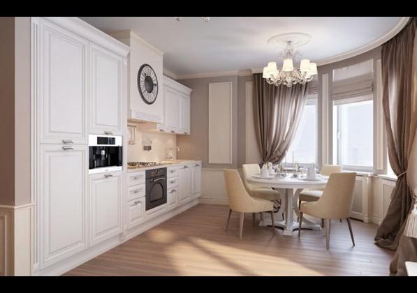 Приказен апартамент в Санкт Петербург - кухня с трапезария