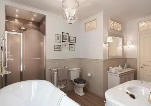 Приказен апартамент в Петербург - красива баня