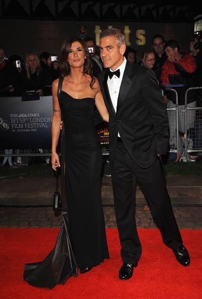 Елизабета Каналис с Джордж Клуни на червения килим