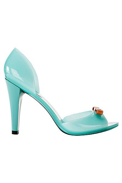 Светло сини лачени обувки на ток Furla Пролет-Лято 2012