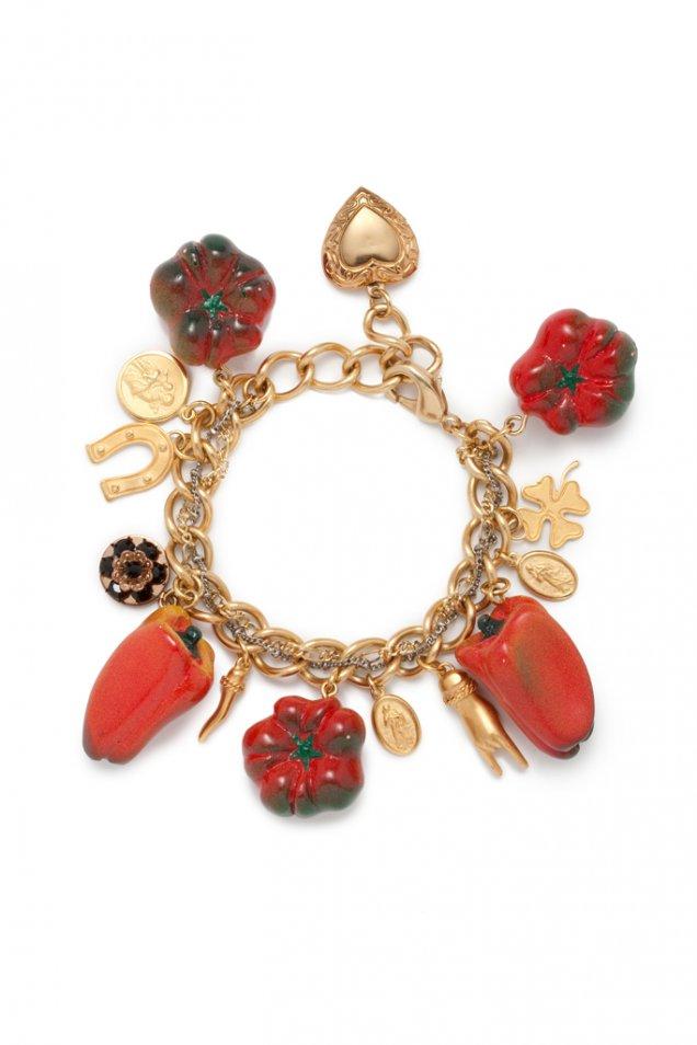 Гривна с висулки плодчета и зеленчуци Dolce and Gabbana