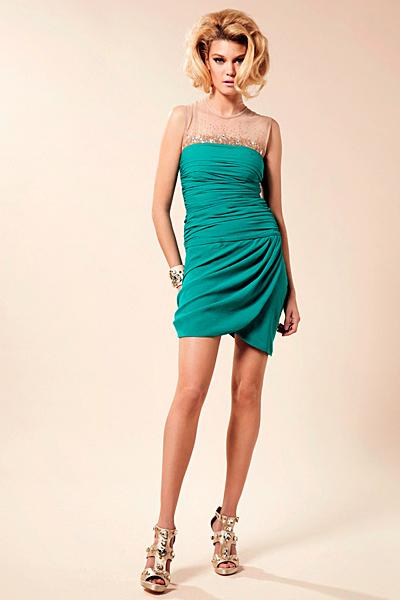 Къса тюркоазена рокля Предпролетна колекция Blumarine за 2012