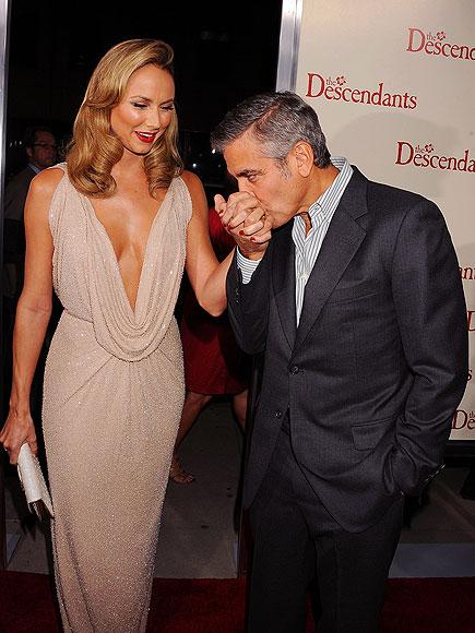 Джордж Клуни с ослепителната Стейси Киблър