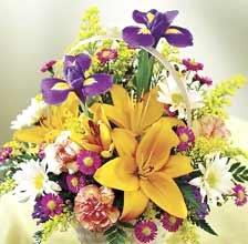 Пъстър букет от пролетни цветя