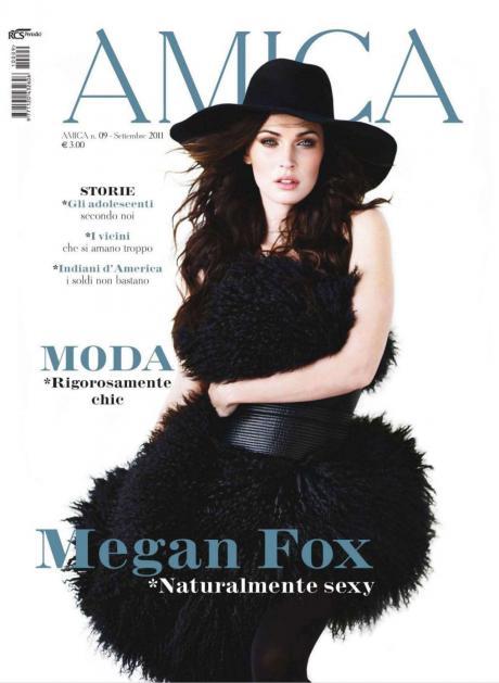Меган Фокс на корицата на сп. Amica