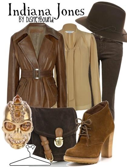 Сет с тъмен панталон, бежов топ и кожено сако и обувки велурени в кафяво