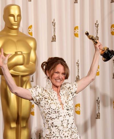 Мелиса Лио с Оскар за поддържаща женска роля в Боецът, Оскари 2011