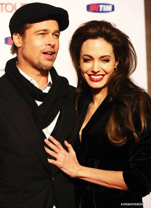 Анджелина Джоли и Брад Пит на премиерата на