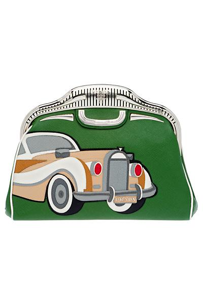 Малка зелена чанта с кола Prada Пролет-Лято 2012