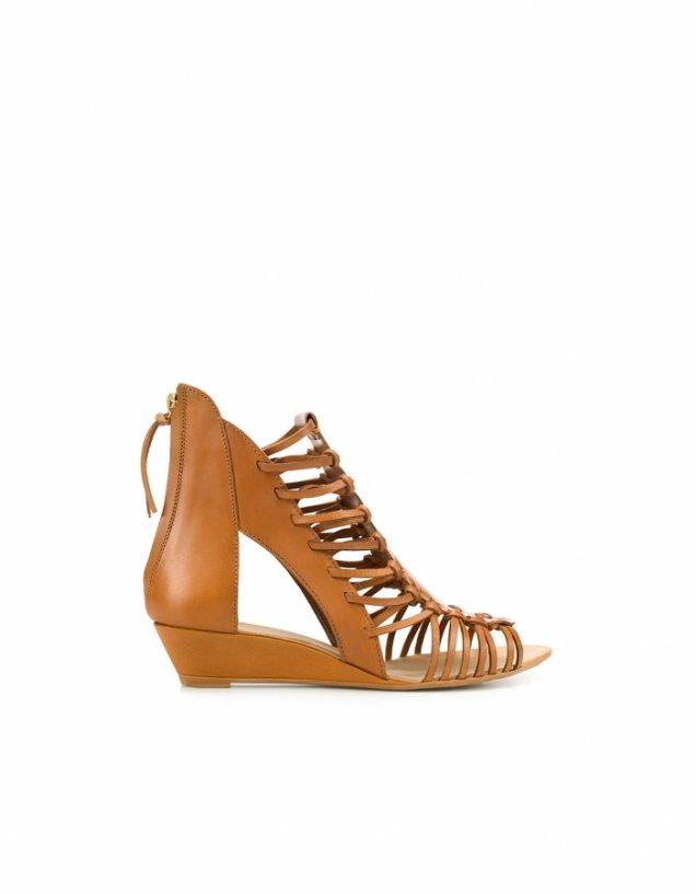 Равни отворени обувки с преплетени въженца Zara Пролет-Лято 2012