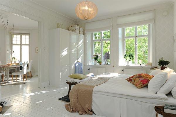 Интериор за малък апартамент спалня