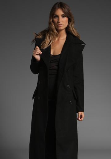 0dad3b0ea49 Зимно палто в черно дълго Dakota Dedrick зима 2011 2012 - За Жената