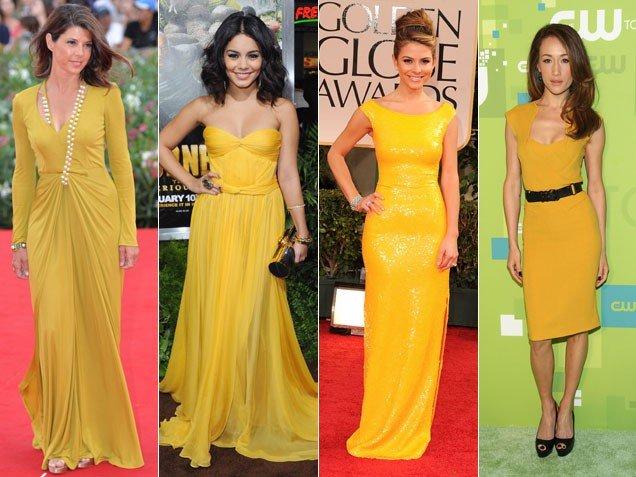 Красиви жълти рокли за пролет 2012