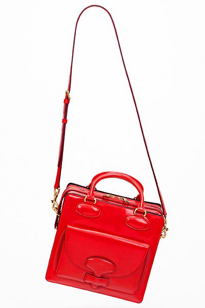 Червена кожена чанта малка с два вида дръжки Loewe Есен-Зима 2011