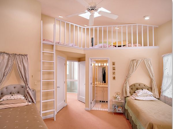 Детска стая за момиче с второ ниво