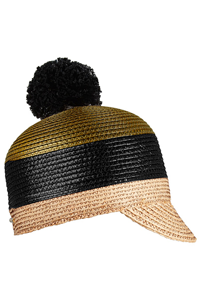 Плетена шапка с малка козирка Burberry пролет-лято 2012