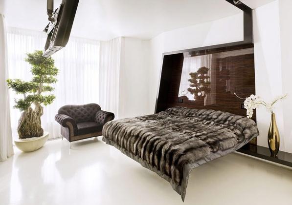 модерен апартамент в Русия - спалня