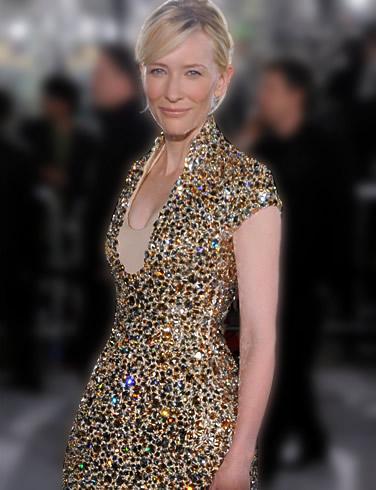 Кейт Бланшет в рокля с пайети