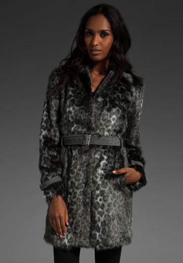 599740ab963 Леопардово палто кожа Rebecca Taylor зима 2011 2012